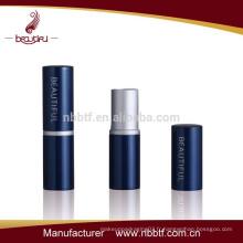 Boîte à lèvres cosmétique de luxe en tube de rouge à lèvres vide
