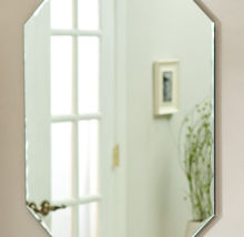 Waterproof Paint Silver Mirrors , Round Silver Wall Mirror