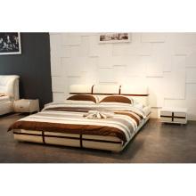 Mobília do quarto café, cama de couro moderna feira de Cantão (9129)