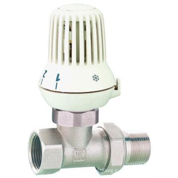 J3004 Радиаторный клапан / латунный прямой радиаторный клапан с никелевым покрытием