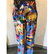 Men's Printed Long Pajama Pants