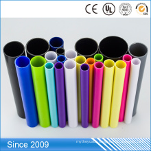 Colourful PVC plastic sleeve colorful decorative pvc pipe