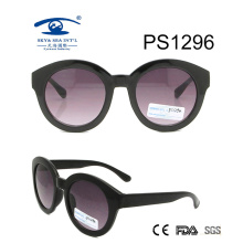Black Frame Round Kid Plastic Sunglasses (PS1296)