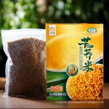 Alimento saudável orgânico 500g de arroz preto de trigo sarraceno amargo