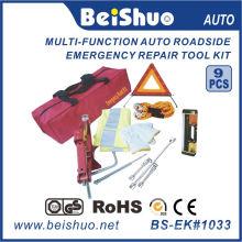 9PCS Roadside Car Emergency Kit with Safety Vest