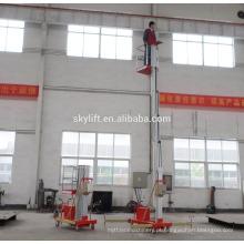 Plataforma de trabalho de alumínio do mastro do elevador hidráulico de 15feet