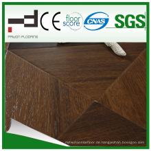 600 * 600 * 12mm Silk Oberflächenparkett HDF lamellierter Bodenbelag