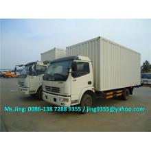 2016 New DFAC 6-7 ton van truck, van box cargo truck with hydraulic rear pedal sale in Sudan