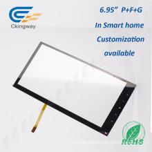 Tela de toque de vidro transparente 5,6 polegadas USB para máquina de beleza