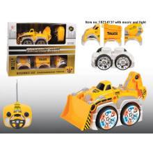 Juguetes de construcción de 4 canales de camión con luz para niños