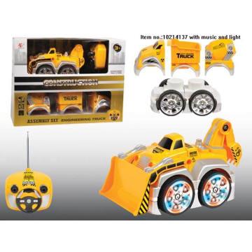 Jouets de construction de 4 canaux de camion avec la lumière pour des enfants