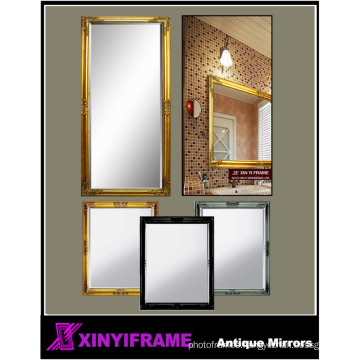 Living room furniture antique gold framed mirror wall hanging mirror