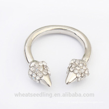 2015 fashion silver jewelry crystal cheap ring for women