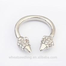 2015 moda jóias de prata anel de cristal barato para as mulheres