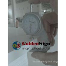 Goldenesign PVC-Schaum-Brett benutzt für Badezimmer-Kabinett in der Plastikfolie