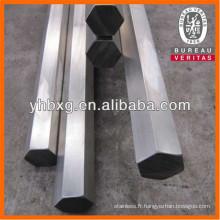 Tige hexagonale en acier inoxydable de première qualité