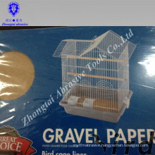 Wholesale Eco-friendly and clean easily 43*28cm pet bird gravel paper
