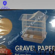 facilmente limpo e higienicamente 43 * 28 cm papel de cascalho de aves de estimação favorável ao meio ambiente