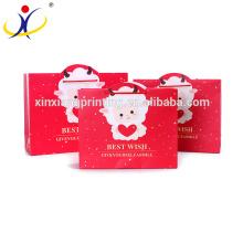 Boîtes et sacs de papier de cadeau de fantaisie colorée en gros colorée adaptée aux besoins du client de cadeau pour le nouvel an