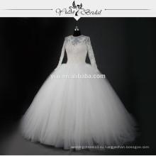 RSW762 красивые длинные рукава свадебного платья и мусульманские свадебные платья в Карачи