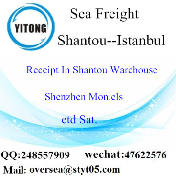 Shantou Port LCL Consolidation To Istanbul