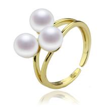 Hochwertiger 925 Sterling Silber Perlen Ring