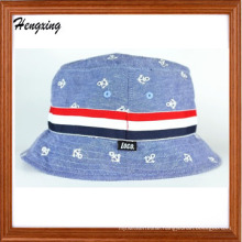 Custom Embroidered Jeans Cotton Bucket Hat