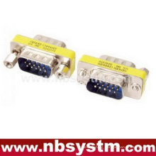 mini adapter, db15 male to male Gender Changer blue