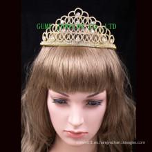 Tiara cristalina del diseño de la manera Corona caliente de la venta para el desfile