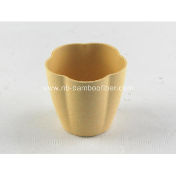 Bamboo fiber flower shape meaty plants pot
