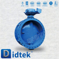 DIDTEK Medium Pressure stainless steel pn40 butterfly valve