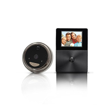 HD peephole ring wifi video doorbell with lcd screen monitor intercom