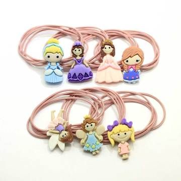 New Korean Hair Elastic Ponytail Holder Princess Animal Decoration Elastic Hair Tie Band Elastic Baby Ponytail Holder