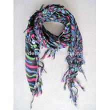 Viscose custom woven scarf square