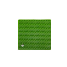 Anti-Rutsch-Hitzebeständiger quadratischer Silikon-Topfhalter / Silikon-Trivet / Tischplatte