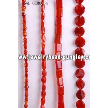 Natural gemstone carnelian bead