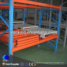 Estanterías de acero galvanizado, rejillas y estantes de calidad empujar hacia atrás estanterías