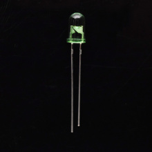 5mm Through-hole Green LED with Green Clear Lens