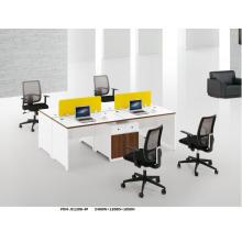 Puesto de trabajo de escritorio de Teaming blanco elegante moderno por encargo