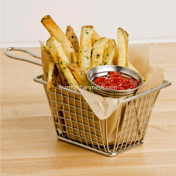 stainless steel kitchen tool basket