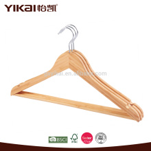 Fancy flat bamboo shirt hangers