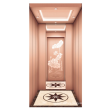 Special sale  Rose titanium mirror etching  mini home elevator lift  indoor lift for home