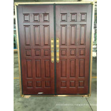 Stylish Simple Design Steel Security Copper Door