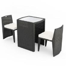 Muebles de jardín de ratán de jardín marrón con 2 asientos