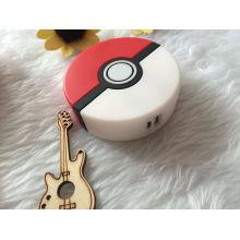 Горячие продукты 2016 мультфильм 8000mAh 3D Pokeball Pokemon Go Power Bank