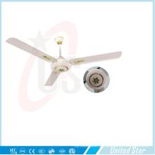 56''celling Fan Solar DC Fan 5 Geschwindigkeit Remote Coutrol Wohnzimmer Kühlventilator