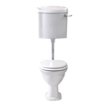 Low brass toilet flush valve