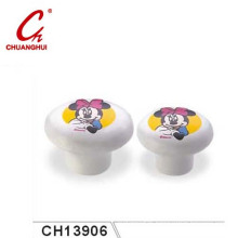 Cute Catoon Ceramic Knob Handles with Flower Pattern (CH13906)