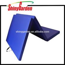 Fundamentos de PVC Estera de gimnasia PVC normal y estera de ejercicios Estera de gimnasia plegable tres en 40 mm * 1200 mm * 1800 mm