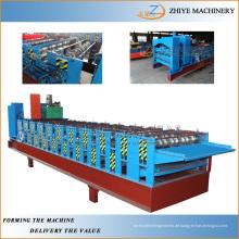 Baugeräte Double Layer Farbige Stahl Typ Dachziegel Wellblech Blechherstellung Maschine